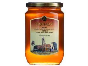 Μέλι Τοπλού Σητείας με Θυμάρι Πεύκο Βότανα – Great Taste Βραβείο 950gr