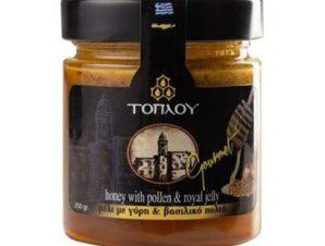 Μέλι Τοπλού Gourmet με Γύρη & Βασιλικό Πολτό 250gr