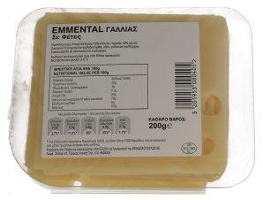 Τυρί Emmental Γαλλίας Φέτες 200gr