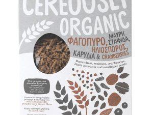 """Βιολογικά δημητριακά με φαγόπυρο, σταφίδα, cranberries, ηλιόσπορο & καρύδια «Cereously Organic» """"Joice Foods"""" 350g>"""