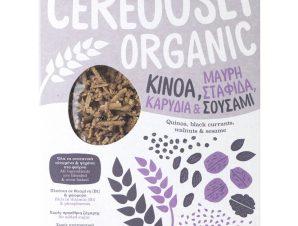 """Βιολογικά δημητριακά με κινόα, σταφίδα, καρύδια & σουσάμι «Cereously Organic» """"Joice Foods"""" 350g>"""