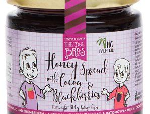 """Άλειμμα μελιού με κακάο & blackberries χωρίς γλουτένη & ζάχαρη, Εύβοιας «The Bee Bros» """"Stayia Farm"""" 300g>"""
