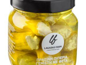 """Πιπεριά πράσινη γεμιστή με φέτα, Θεσσαλονίκης """"Lagadas Farm"""" 314ml>"""