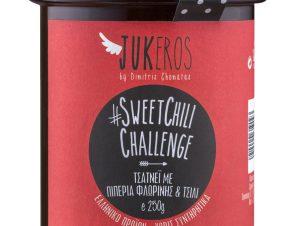 """Χειροποίητo τσάτνεϊ με πιπεριά Φλωρίνης & τσίλι «Sweet Chili Challenge» """"Jukeros"""" 250g>"""