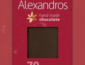 """Χειροποίητη σοκολάτα υγείας με τσίλι """"Alexandros"""" 90g>"""