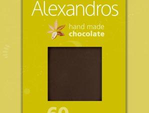 """Χειροποίητη σοκολάτα υγείας με γλυκαντικό στέβια """"Alexandros"""" 90g>"""