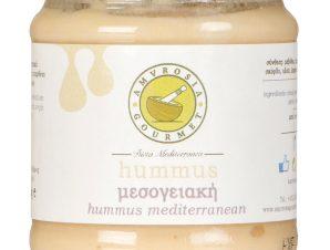 """Χειροποίητη μεσογειακή σαλάτα χούμους """"Amvrosia Gourmet"""" 200g>"""
