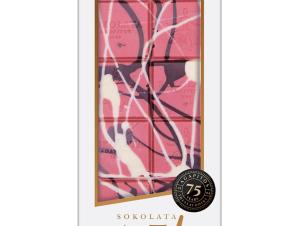 """Χειροποίητη σοκολάτα ruby «Art» """"Αγαπητός 1944"""" 100g>"""