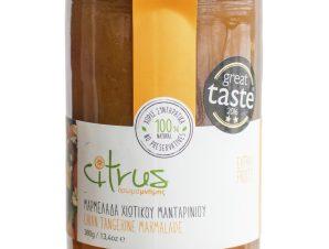 """Χειροποίητη μαρμελάδα χιώτικου μανταρινιού """"Citrus"""" 380g>"""