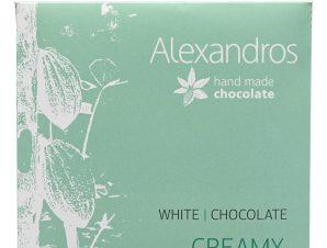 """Χειροποίητη λευκή σοκολάτα """"Alexandros"""" 35g>"""