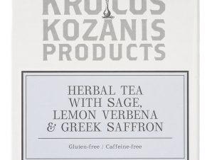 """Ρόφημα με φασκόμηλο, λουίζα & κρόκο Κοζάνης """"Krocus Kozanis Products"""" 18g>"""