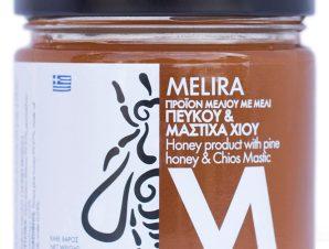 """Μέλι πεύκου με μαστίχα Χίου, Εύβοιας """"Melira"""" 280g>"""