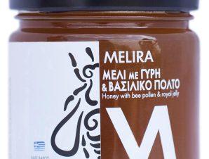 """Μέλι με γύρη & βασιλικό πολτό, Εύβοιας """"Melira"""" 280g>"""