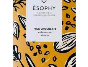 """Σοκολάτα γάλακτος με σουσάμι """"Ésophy"""" 50g>"""