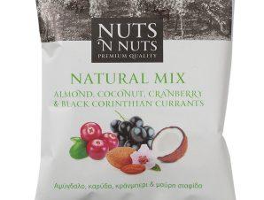 """Μίγμα με αμύγδαλο, καρύδα, κράνμπερι & μαύρη σταφίδα «Natural Mix» """"Nuts 'n Nuts"""" 90g>"""