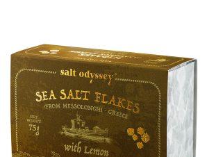 """Νιφάδες θαλασσινού αλατιού με λεμόνι, Μεσολογγίου """"Salt Odyssey"""" 75g>"""