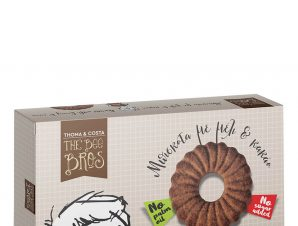 """Μπισκότα με μέλι και κακάο, χωρίς προσθήκη ζάχαρης & φοινοκέλαιου, Εύβοιας «The Bee Bros» """"Stayia Farm"""" 115g>"""