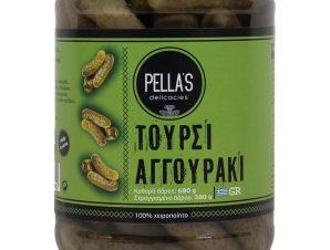 """Αγγουράκι τουρσί, Πέλλας """"Pella's Delicasies"""" 680g>"""