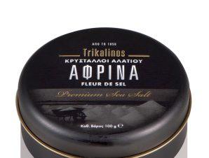 """Φυσικοί κρύσταλλοι αλατιού Μεσολογγίου «Αφρίνα» """"Trikalinos"""" 100g>"""