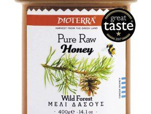 """Αγνό, άθερμο μέλι δάσους, Αχαΐας """"Dioterra"""" 400g>"""