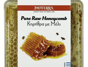 """Κηρήθρα με μέλι, Αχαϊας """"Dioterra"""" 300g>"""