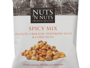 """Μίγμα με πίνατς, κρόκερ, πεπερόνι & καλαμπόκι «Spicy Mix» """"Nuts 'n Nuts"""" 90g>"""