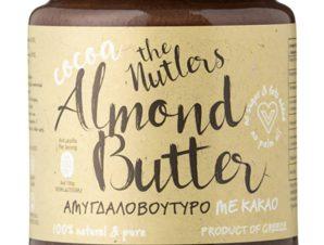 """Βούτυρο αμυγδάλου με κακάο & μέλι, χωρίς ζάχαρη, Βόλου """"The Nutlers"""" 250g>"""