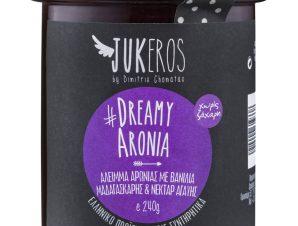 """Άλειμμα αρώνιας με βανίλια Μαδαγασκάρης & νέκταρ αγαύης «Dreamy Aronia», χωρίς ζάχαρη """"Jukeros"""" 240g>"""