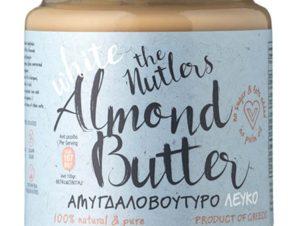 """Λευκό βούτυρο αμυγδάλου, χωρίς ζάχαρη, Βόλου """"The Nutlers"""" 250g>"""