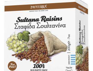 """Σταφίδα Σουλτανίνα """"Dioterra"""" 200g>"""