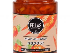 """Παραδοσιακό γλυκό κουταλιού καρότο, Πέλλας """"Pella's Delicasies"""" 400g>"""