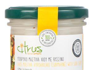 """Παραδοσιακό υποβρύχιο μαστίχας Χίου με βύσσινο """"Citrus"""" 125g>"""