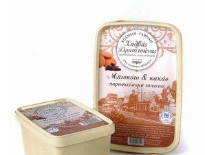 """Παραδοσιακός χειροποίητος χαλβάς Δραπετσώνας με μπισκότο & κακάο """"Κοσμίδη – Γαβρίλη"""" 450g>"""