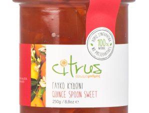 """Παραδοσιακό γλυκό κουταλιού κυδώνι, Χίου """"Citrus"""" 250g>"""