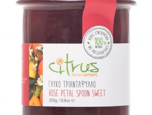 """Παραδοσιακό γλυκό κουταλιού τριαντάφυλλο, Χίου """"Citrus"""" 250g>"""